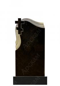 Гранитный памятник (крест с плащеницей) 100х50