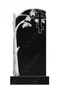 Гранитный памятник (крест с дубом) 120х60