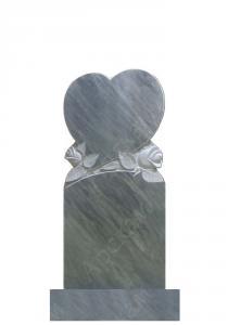 Мраморный памятник (сердце с розами) 100х45