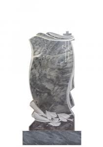 Мраморный памятник (с цветами) 100х45