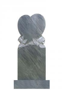 Мраморный памятник (сердце с розами) 110х45