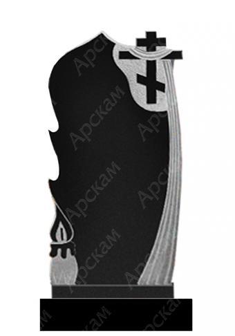 Гранитный памятник (свеча с крестом) 120х60