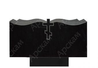 Гранитный памятник (Крест с плащаницей) 60х120