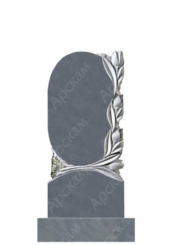 Мраморный памятник (с тюльпанами) 100х45
