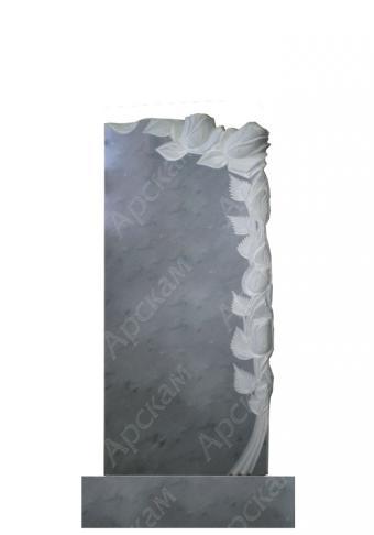Мраморный памятник (с розами) 100х45