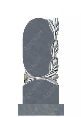 Мраморный памятник (с тюльпанами) 110х45