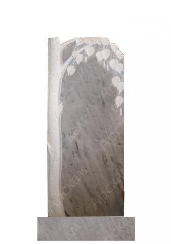 Мраморный памятник (береза) 110х45
