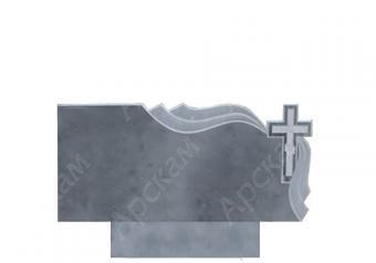 Мраморный памятник (с площеницей) 100х50