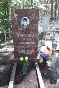 Памятник из красного гранита (п-45)